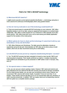 FAQ MCSGP HPLC Chromatography